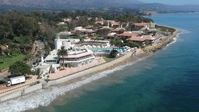 Praia Montecito Califórnia da borboleta video estoque