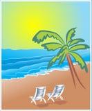 Praia morna do verão Imagens de Stock