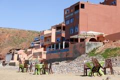Praia Morrocco de Legzira imagem de stock royalty free