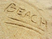 Praia na areia Fotos de Stock Royalty Free