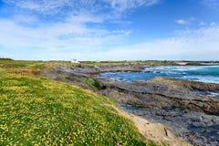 A praia na baía do ` s do peito Foto de Stock