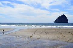 A praia na cidade pacífica, Oregon Imagem de Stock Royalty Free