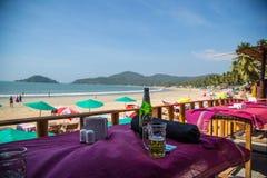 Praia na praia de Palolem, Goa Imagens de Stock
