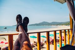 Praia na praia de Palolem, Goa Fotografia de Stock Royalty Free