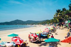 Praia na praia de Palolem, Goa Foto de Stock
