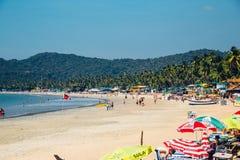 Praia na praia de Palolem, Goa Fotos de Stock