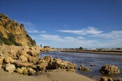 Praia na entrada de Alreys, Austrália fotografia de stock