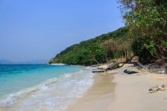 Praia na ilha Fotografia de Stock Royalty Free