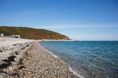 Praia na ilha de Laxey do homem Foto de Stock Royalty Free
