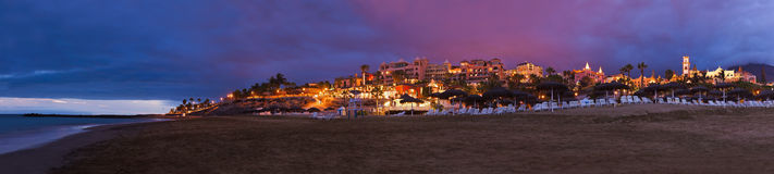 Praia na ilha de Tenerife - canário Imagens de Stock Royalty Free