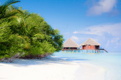 Praia na ilha tropical Imagem de Stock