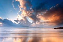 Praia na manhã Foto de Stock