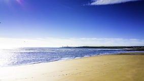 Praia na manhã Fotografia de Stock Royalty Free
