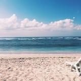 Praia na manhã Fotografia de Stock