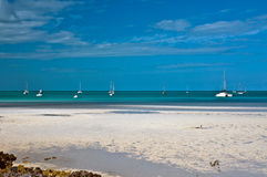 Praia na maré baixa Foto de Stock Royalty Free