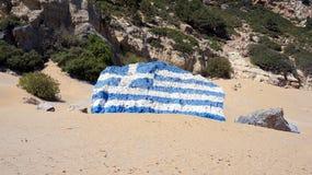 Praia na pedra do tsampica Imagem de Stock Royalty Free