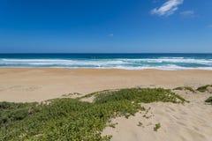 Praia na rota do jardim, África do Sul fotografia de stock royalty free