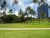 Praia nas ilhas havaianas Imagem de Stock