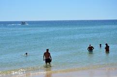 Praia no Algarve imagens de stock