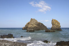A praia no anatolia Foto de Stock Royalty Free