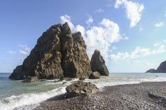 A praia no anatolia Fotos de Stock