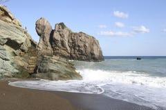 A praia no anatolia Fotos de Stock Royalty Free