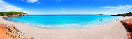 Praia no console de Ibiza panorâmico Fotos de Stock