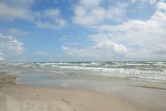 Praia no console de Padre, TX EUA fotografia de stock royalty free