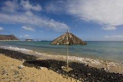 Praia no console de Porto Santo Imagem de Stock Royalty Free
