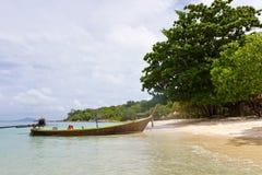 Praia no console tropical Foto de Stock