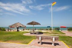 Praia no Golfo Pérsico, Arábia Saudita Foto de Stock