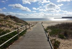 Praia no inverno Imagens de Stock Royalty Free