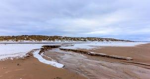 Praia no inverno imagem de stock royalty free