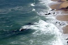 Praia no kanyakumari imagem de stock