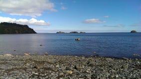 Praia no Kodiak imagens de stock