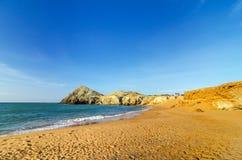 Praia no La Guajira, Colômbia Fotografia de Stock Royalty Free