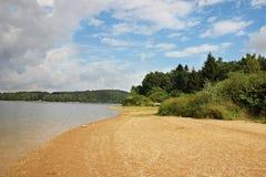 Praia no lago Foto de Stock