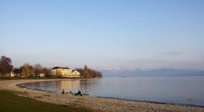 Praia no lago Constance Imagens de Stock