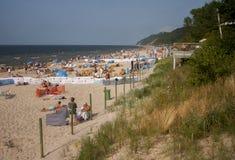 Praia no mar Báltico Fotografia de Stock