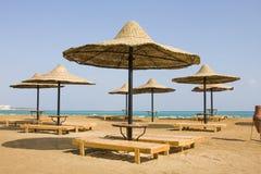 Praia no Mar Vermelho, Hurghada, Egipto Foto de Stock