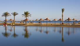 Praia no Mar Vermelho, Hurghada, Egipto imagens de stock
