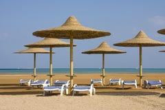Praia no Mar Vermelho, Hurghada, Egipto Fotografia de Stock