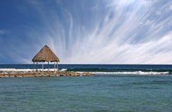 Praia no Maya de Riviera, México Foto de Stock Royalty Free