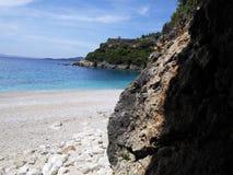 Praia no meio-dia Foto de Stock