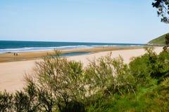 Praia no norte de spain imagem de stock