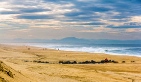 Praia no Oceano Atlântico perto de Seignosse - França Foto de Stock