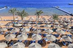 Praia no Sharm el Sheikh Foto de Stock