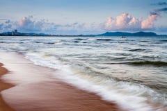 Praia no sul de Na Kluea Foto de Stock Royalty Free