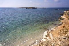 A praia nomeou Galeotta na frente da ilha de Favignana Sic?lia, Italy imagem de stock