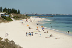 Praia norte de Cottesloe, Perth, Austrália Ocidental Foto de Stock Royalty Free